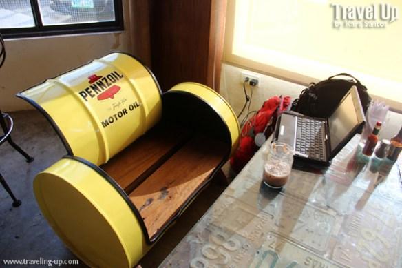 cafe racer cebu philippines oil drum chair license plates