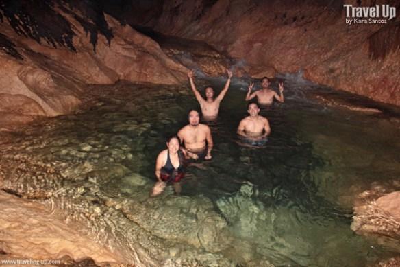 17. swimming in tinipak cave