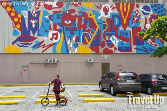 metropolis by AKA corleone mural BGC bike