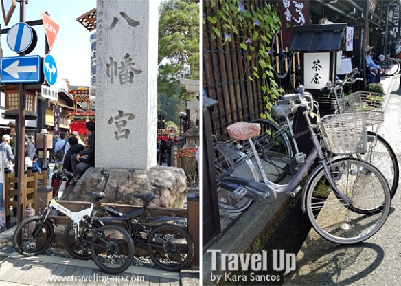 takayama autumn festival japan bicycles stores