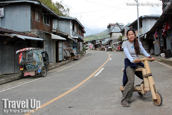 banaue rice terraces ifugao wooden scooter