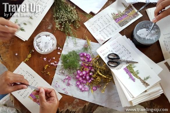 salay handmade products presed flower calendar misamis oriental
