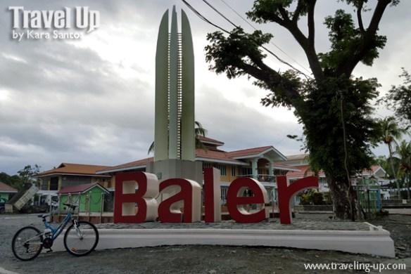 baler aurora landmark sign marker bicycle