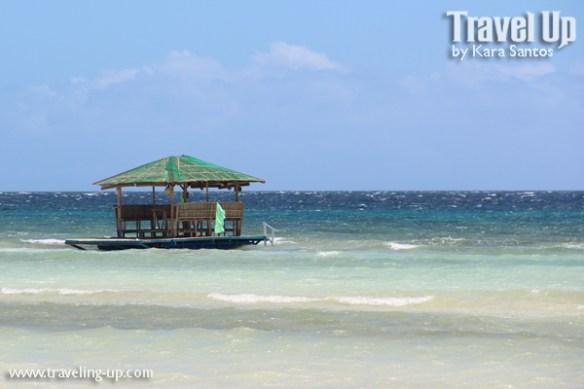 bohol by motorcycle anda beach floating hut
