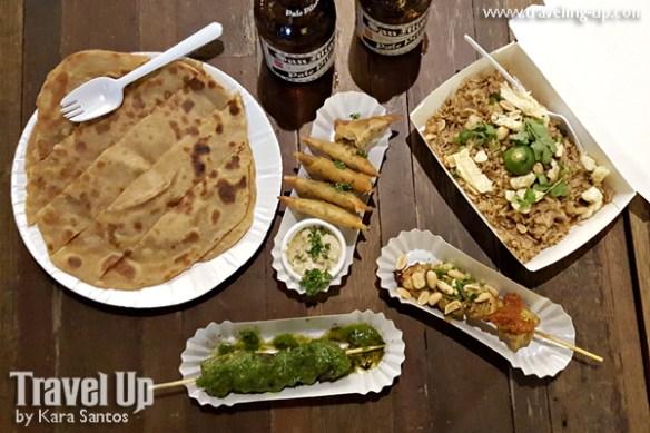 02 merkanto street food pratha nasi goreng samosa satay churrascos