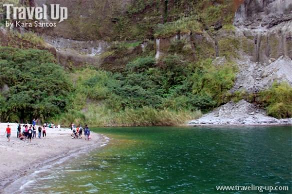 mt. pinatubo crater lake hikers