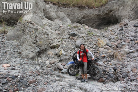 mt. pinatubo rocky terrain motorcycle