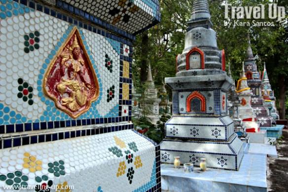 amphawa thailand stupa chedi detail