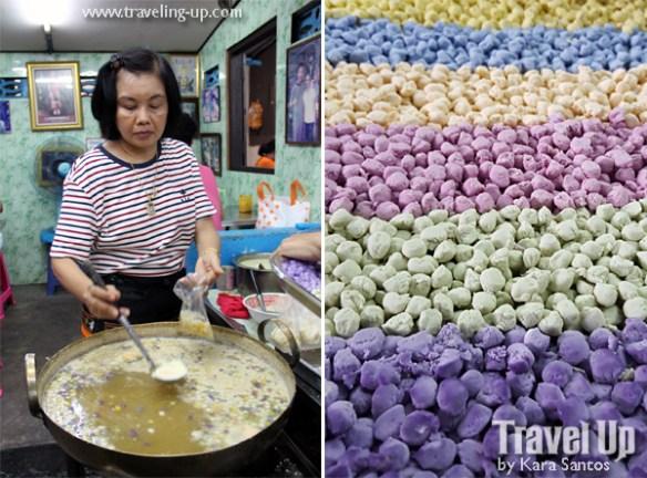 kuanom bua loi thailand street food bankok market