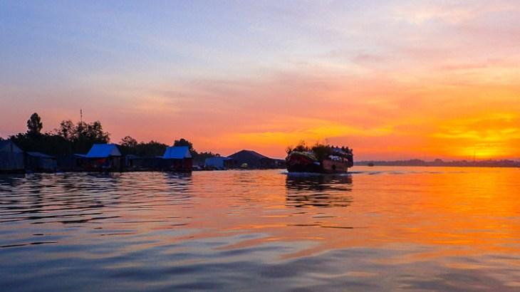Sunrise over the Mekong Delta