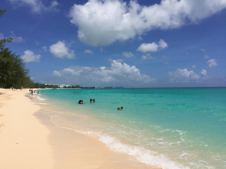 Family Activities in the Grand Cayman Islands   TravelingMom Seven Mile Beach on Grand Cayman Island