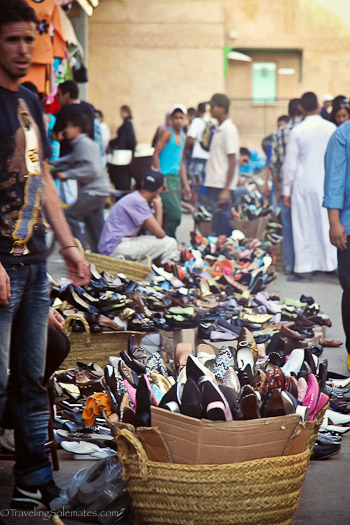 Shoes for sale in Meknes Medina
