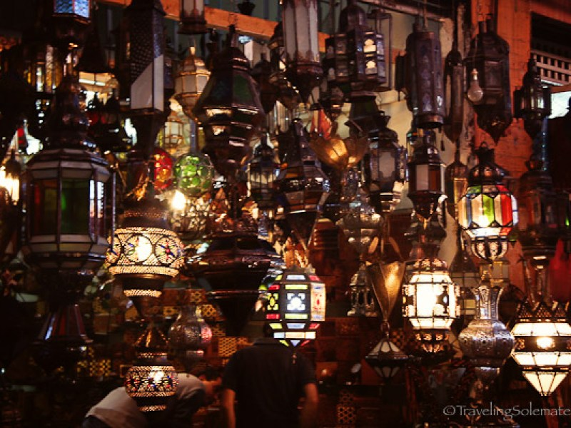 Lamp souk in Marrakesh