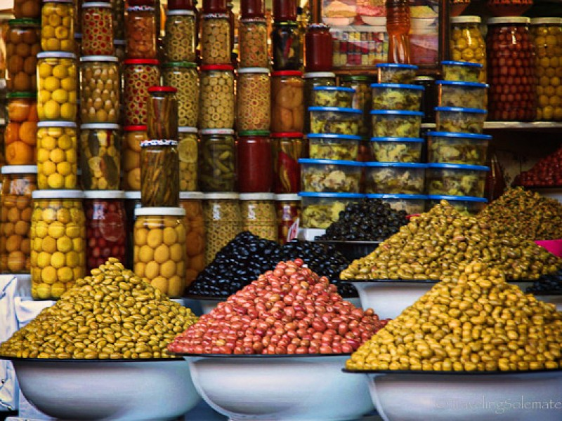 Olives in Marrakesh souk