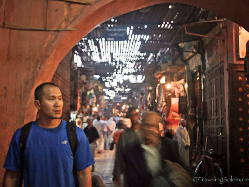 Souk in Medina of Marrakesh