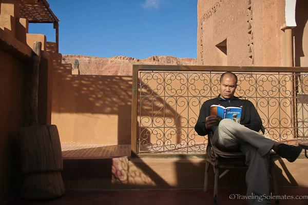 Relaxing at Kasbah Ellouze