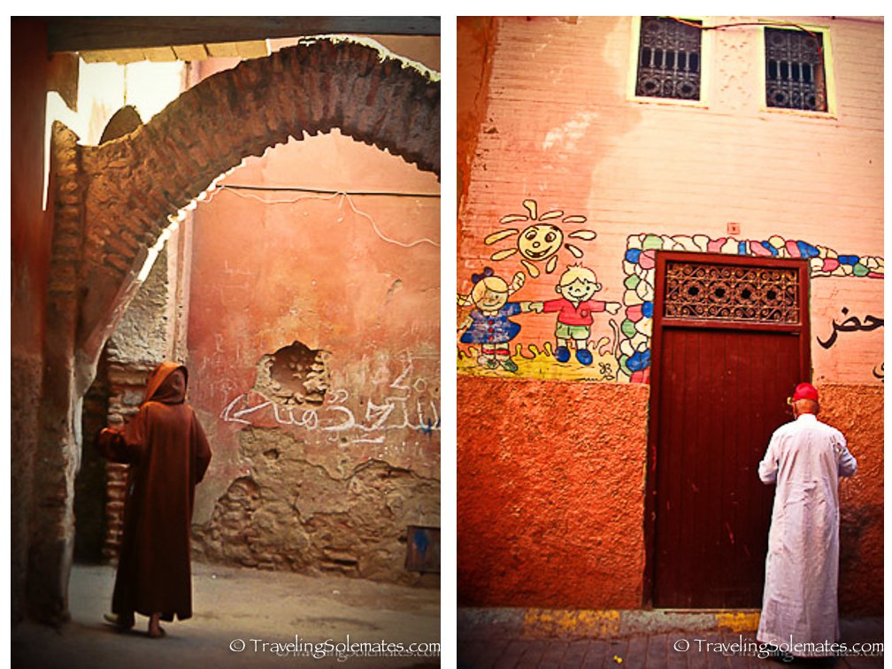 People in Marrakesh Medina
