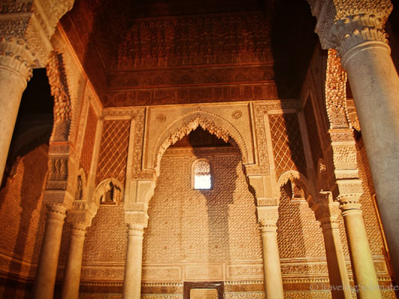Architecture of Saadian tombs in Marrakesh