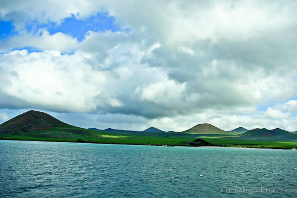 Landscape in Floreana in Galapagos Islands