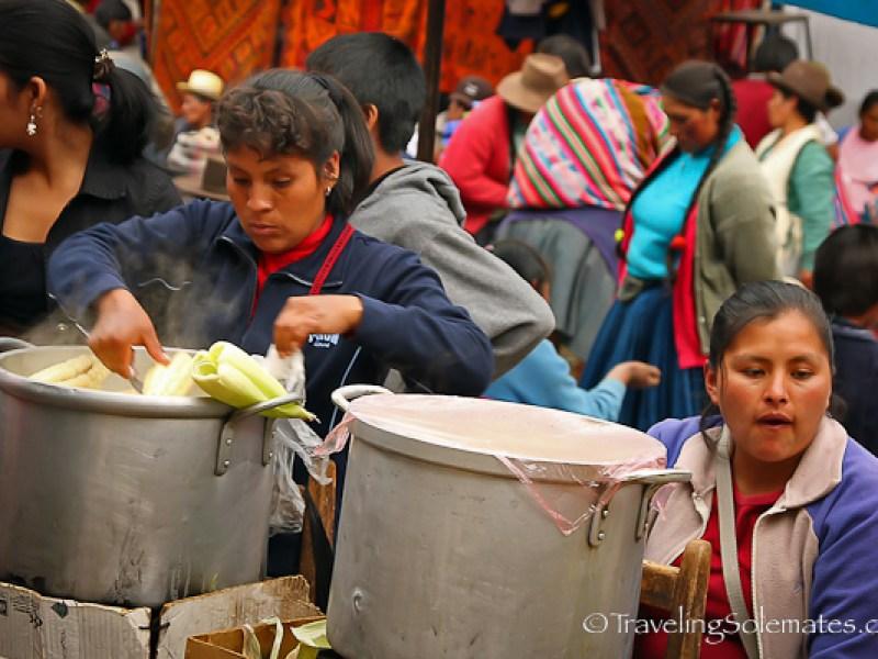 Corn Vendor at Pisac Market Peru