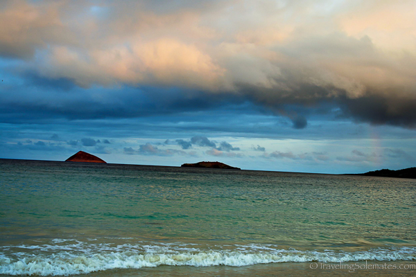 Dusk in Floreana in in Galapagos islands
