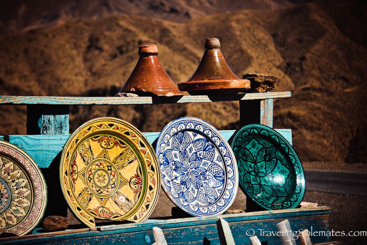 Ceramics on the High Atlas Highway, Morocco