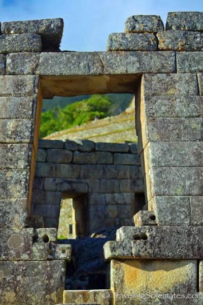 Door of Tempe of the Sun Machu Picchu