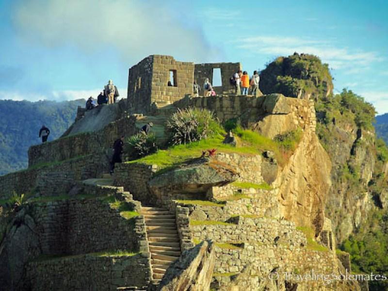 Hitching Post of the Sun (Intihuatana) in Machu Picchu