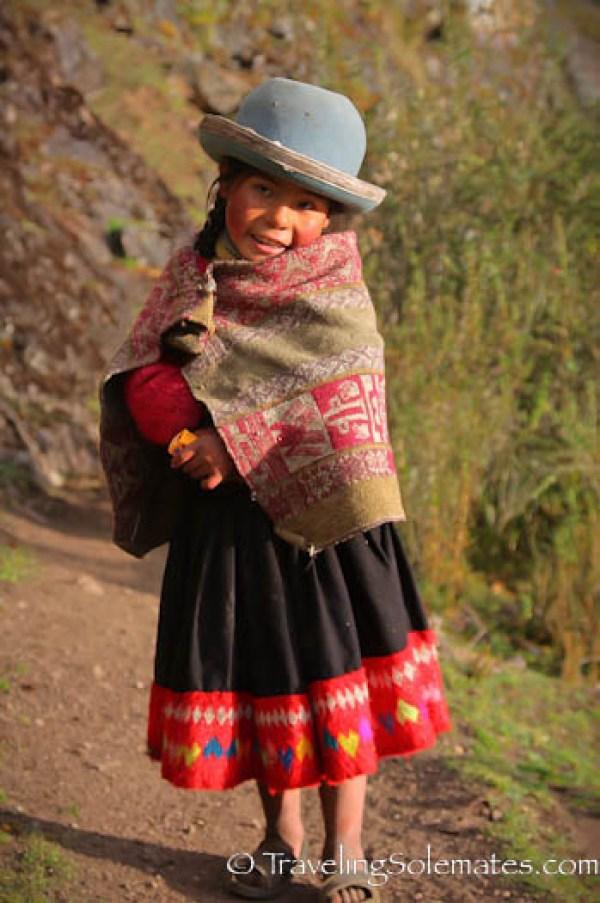 Quechan girl on Lares Valley Trek Peru