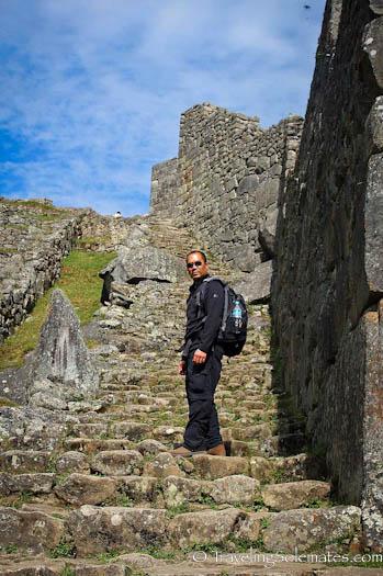 Inca Stairways in Machu Picchu