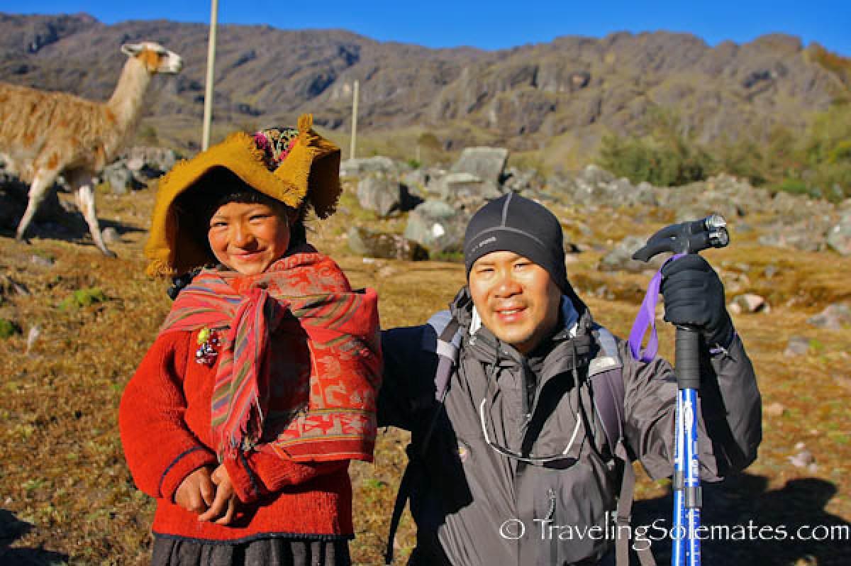 Schoolgirl on Lares Valley Trek Peru
