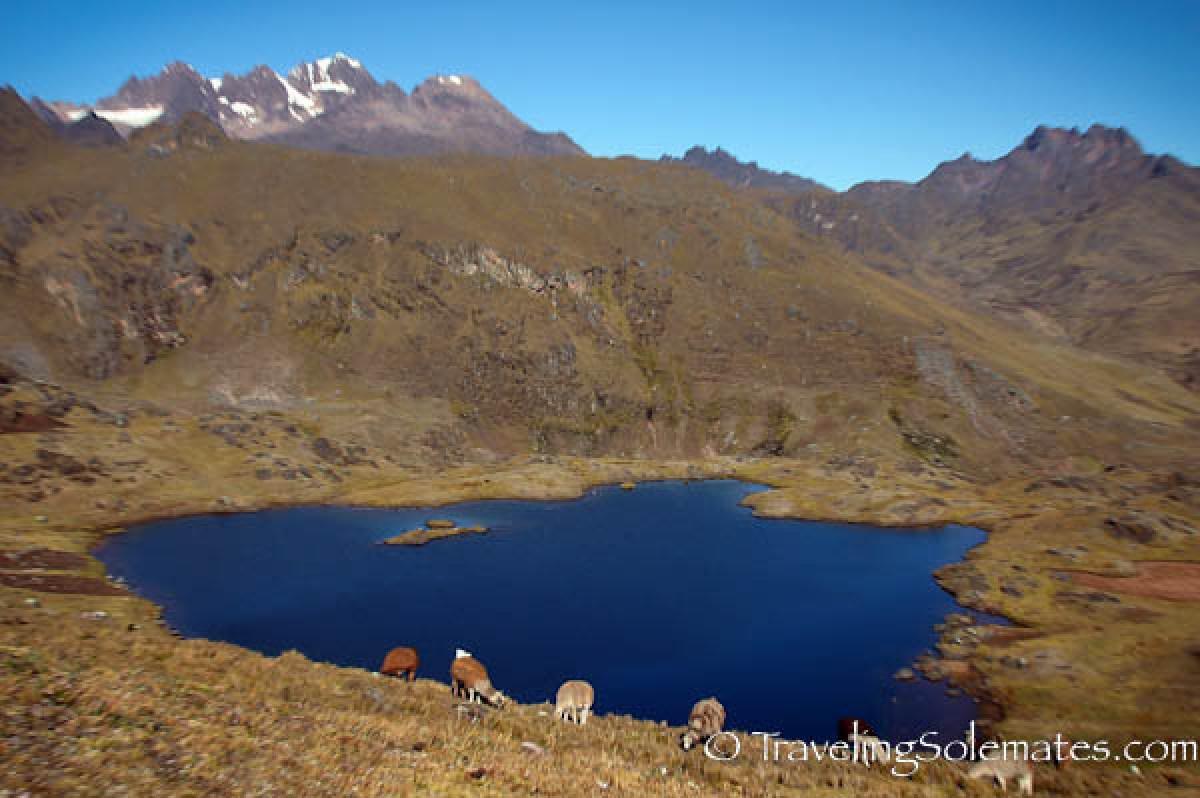 Lagoon on Lares Valley Trek Peru