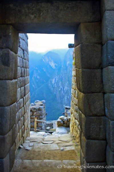 Trapezoidal door in Maccu Picchu