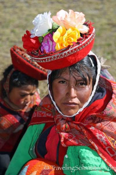 Quechuan woman on Lares Valley Trek Peru