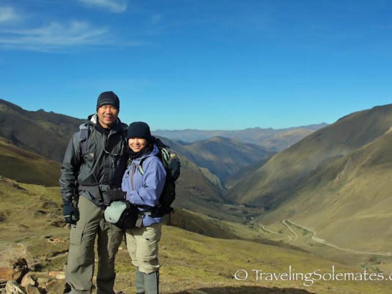On third high pass, Lares Valley Trek Peru