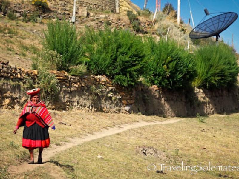 Satellite dish in Patacancha on Lares Valley Trek Peru