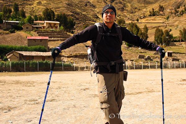 Soccer field in Patacancha, Lares Valley Trek Peru