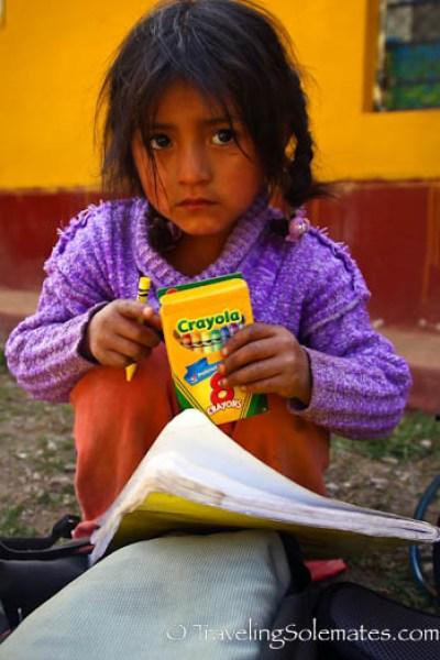 Student at Pitacancha school, Lares Valley Trek Peru
