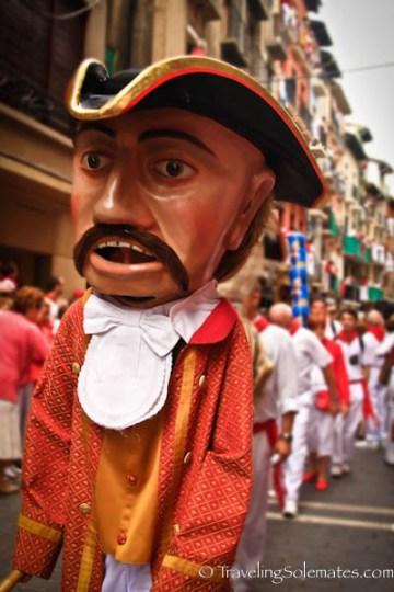 Big Heads at the Fiesta de San Fermin, Pamplona, Spain
