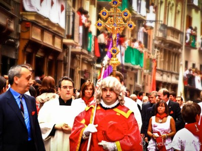 The Cross of San Lorenzo at the Procession, Fiesta de San Fermin, Pamplona, Spain