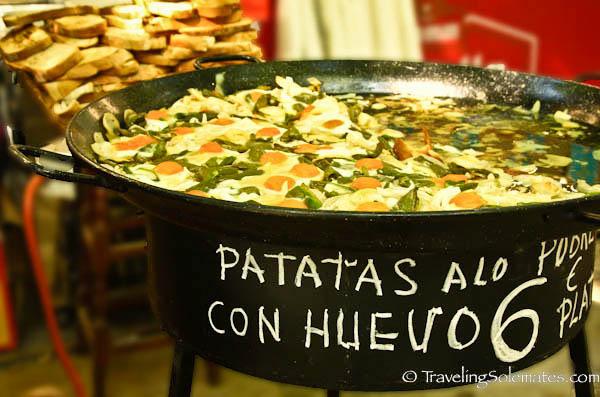 Food for sale at Fiesta de San Fermin, Pamplona, Spain