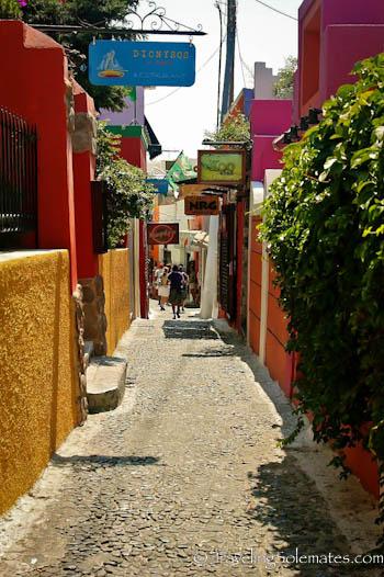 Street in Fira, Santorini, Greece