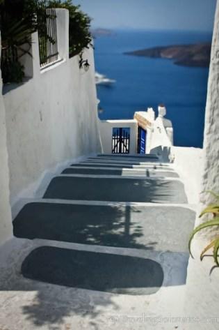 Firostefani stairs, Santorini, Greece