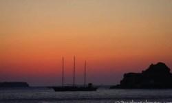 Amazing sunset in Santorini, Greece