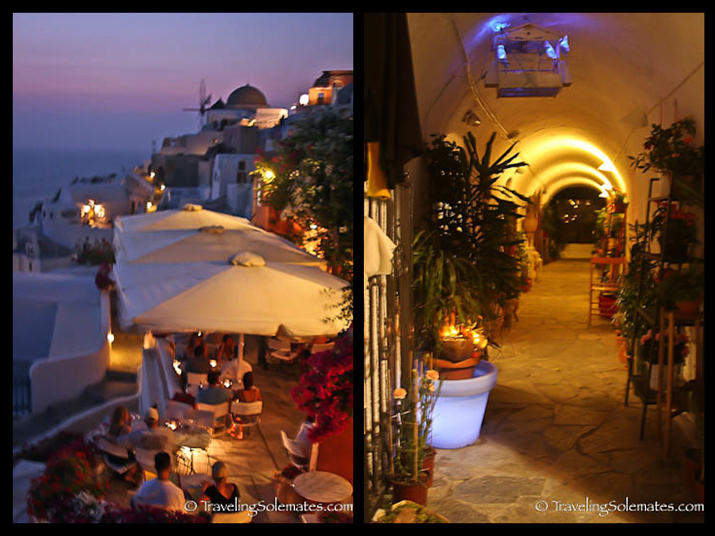 Oia at Night, Santorinii, Greece