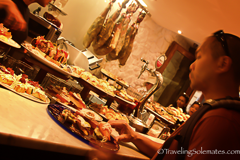 Pintxos Bar, San Sebastian, Spain.
