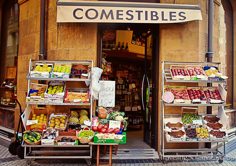 Old Quarter, San Sebastian, Spain.