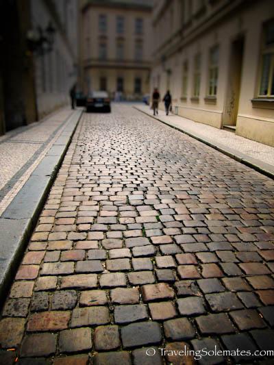 Cobble Street, Stare Mesto, (Old Town) Prague, Czech Republic