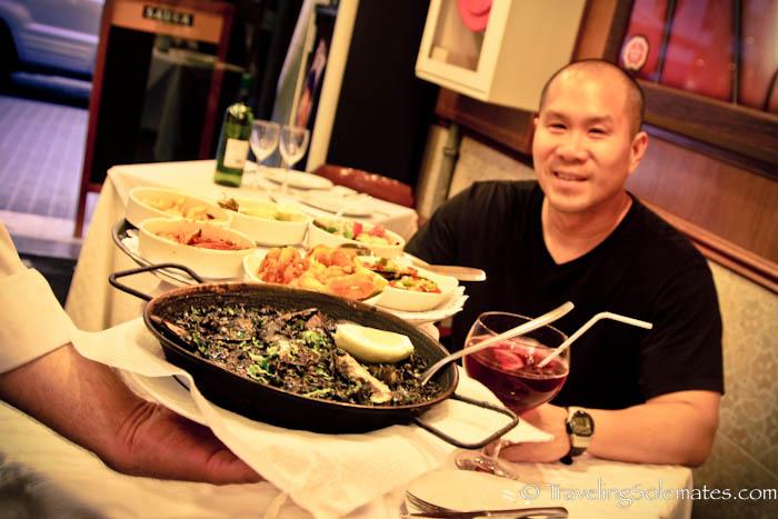 Tapas & paella dinner, Barcelona, Spain