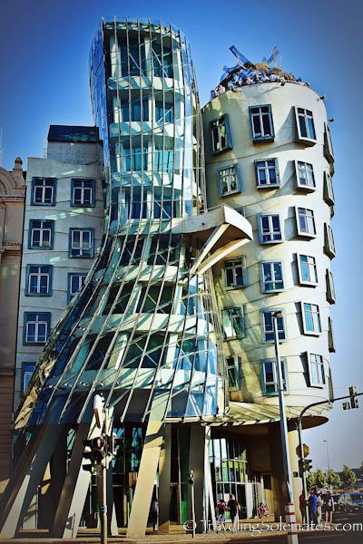 Frank Gehry's Dancing Building, Prague, Czech Republic
